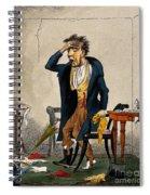 Man With Excruciating Headache, 1835 Spiral Notebook