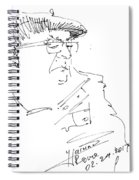Man With Hat Spiral Notebook