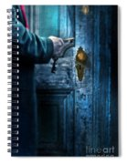 Man With Keys At Door Spiral Notebook