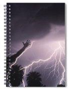 Man With Lightning, Arizona Spiral Notebook