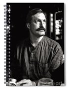 Man With Mustache Spiral Notebook