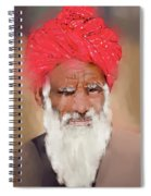 Man With Red Headwrap Spiral Notebook