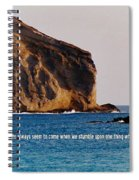 Manana Rabbit Island Quote Spiral Notebook