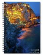 Manarola Lights Spiral Notebook