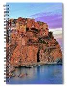 Manarola Rainbow Of Colors Spiral Notebook