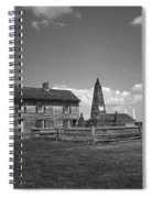 Manassas Battlefield Farmhouse 2 Bw Spiral Notebook