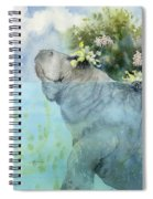 Manatees New Hat Spiral Notebook