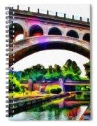 Manayunk Canal And Bridge Spiral Notebook