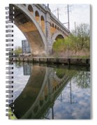 Manayunk Canal Bridge Reflection Spiral Notebook