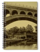 Manayunk Canal In Sepia Spiral Notebook