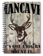 Mancave Deer Rack Spiral Notebook