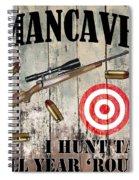 Mancave Hunt Tail Spiral Notebook