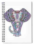 Mandala Elephant Indigo Spiral Notebook