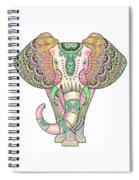 Mandala Elephant Psicodelic Spiral Notebook