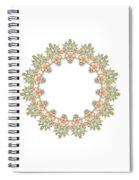 Mandala/photoart Orange Flowers-1 Spiral Notebook