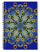 Mandala Sunflower Spiral Notebook
