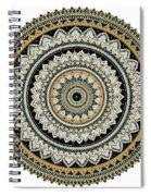 Black And Gold Mandala Spiral Notebook