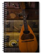 Mandolin And Suitcases Spiral Notebook