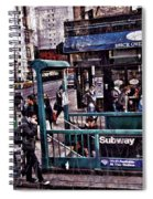 Manhattan 14th Street Spiral Notebook
