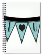 Pennant Deco Blues Streamer Sign I Love You Spiral Notebook