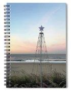 Manhattan Beach Christmas Star Spiral Notebook