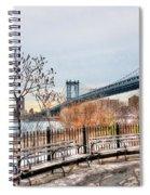 Manhattan Bridge From Brooklyn Bridge Park Spiral Notebook