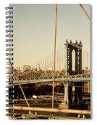 Manhattan Bridge From The Brooklyn Bridge  Spiral Notebook
