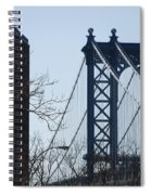 Manhattan Bridge Spiral Notebook