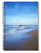 Manhattan Pier Blue Art Spiral Notebook