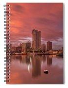 Manila At Sunset Spiral Notebook