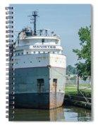 Manistee In Layup At Toledo Spiral Notebook