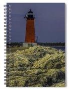 Manistique East Breakwater Light Spiral Notebook