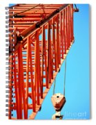Manitowoc Red Boom Block And Hook Spiral Notebook