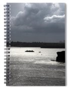 Manly Ferry And Storm Clouds Spiral Notebook