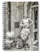 Mannequin On The Street Bw Spiral Notebook