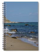 Mansion Beach, Block Island Spiral Notebook