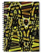 Many Flowers Abstract Spiral Notebook