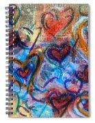 Many Hearts Spiral Notebook