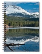 Manzanita Lake Reflects On Mount Lassen Spiral Notebook