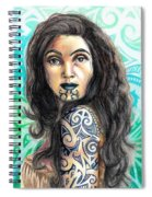 Maori Woman Spiral Notebook