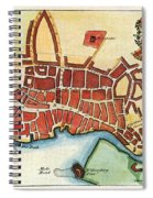 Map: Barbados, C1770 Spiral Notebook