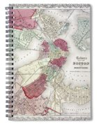 Map: Boston, 1865 Spiral Notebook