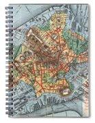 Map: Boston, C1880 Spiral Notebook