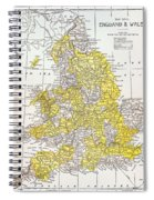 Map: England & Wales Spiral Notebook