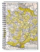 Map: France Spiral Notebook