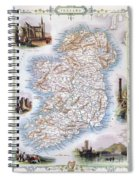 Map: Ireland, 1851 Spiral Notebook