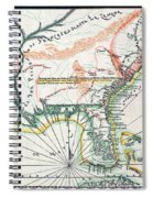Map: North America, 1742 Spiral Notebook