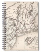 Map: Northeast U.s.a Spiral Notebook