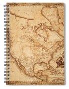 Map Of America 1800 Spiral Notebook