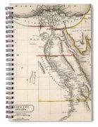 Map Of Aegyptus Antiqua Spiral Notebook